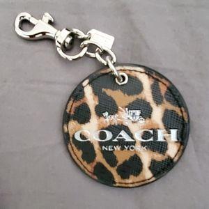 NWOT Coach Keychain Leopard Print